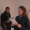 H. Thymiopoulou - C. Stylianou, Theatrical reading performance, 29/12/2010